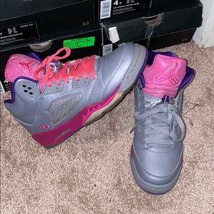 Girls Air Jordans 5's